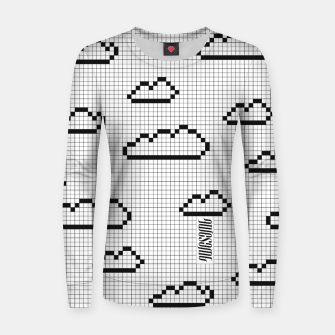 Thumbnail image of We Dream in Pixels Woman cotton sweater, Live Heroes