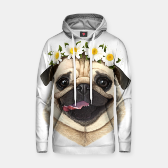 Thumbnail image of Pug Cotton hoodie, Live Heroes