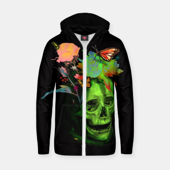 Thumbnail image of Rebirth Cotton zip up hoodie, Live Heroes