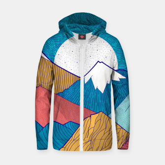 Thumbnail image of The crosshatch sky  Cotton zip up hoodie, Live Heroes