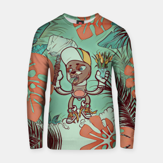 Thumbnail image of Hammer and Flowers Cotton sweater, Live Heroes