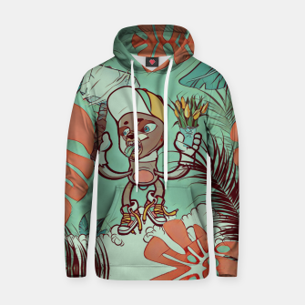 Thumbnail image of Hammer and Flowers Cotton hoodie, Live Heroes