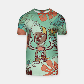 Thumbnail image of Hammer and Flowers T-shirt, Live Heroes