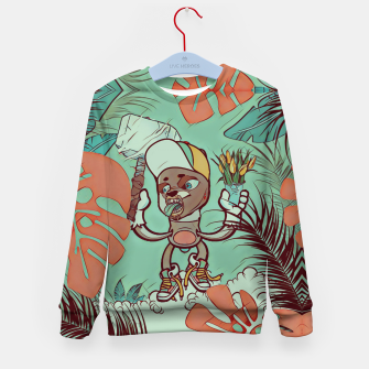 Thumbnail image of Hammer and Flowers Kid's sweater, Live Heroes