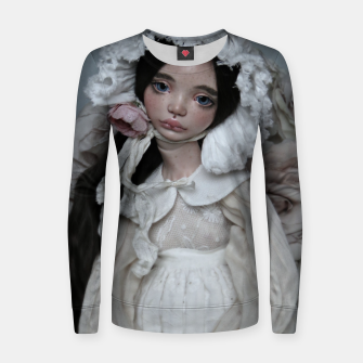 Thumbnail image of Love... love ... love! Woman cotton sweater, Live Heroes