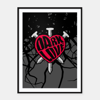 Thumbnail image of Dark Love Framed poster, Live Heroes