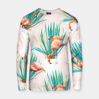 Thumbnail image of Anaglyph Flamingos with cactus Sudadera de algodón, Live Heroes