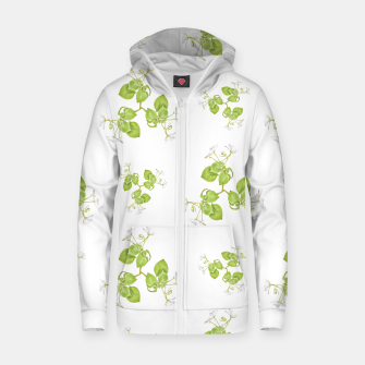 Thumbnail image of Photographic Floral Decorative Pattern Cotton zip up hoodie, Live Heroes