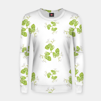 Thumbnail image of Photographic Floral Decorative Pattern Woman cotton sweater, Live Heroes