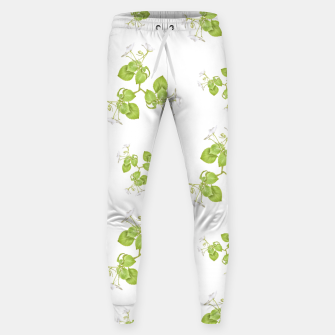 Thumbnail image of Photographic Floral Decorative Pattern Cotton sweatpants, Live Heroes