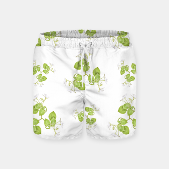 Thumbnail image of Photographic Floral Decorative Pattern Swim Shorts, Live Heroes