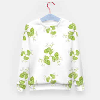 Thumbnail image of Photographic Floral Decorative Pattern Kid's sweater, Live Heroes