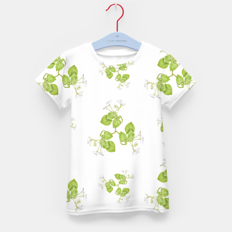 Thumbnail image of Photographic Floral Decorative Pattern Kid's t-shirt, Live Heroes