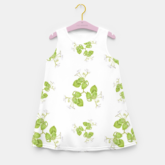 Thumbnail image of Photographic Floral Decorative Pattern Girl's summer dress, Live Heroes