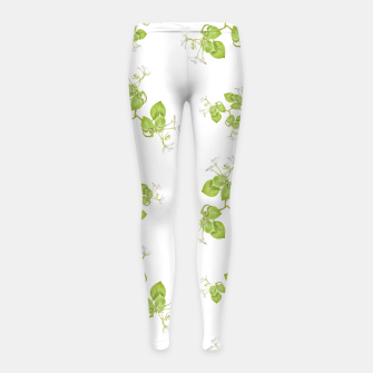 Thumbnail image of Photographic Floral Decorative Pattern Girl's leggings, Live Heroes