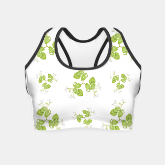 Thumbnail image of Photographic Floral Decorative Pattern Crop Top, Live Heroes