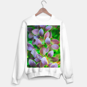 Vibrant green and purple leaves Sweater regular thumbnail image