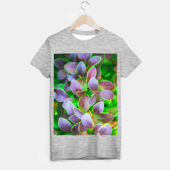 Vibrant green and purple leaves T-shirt regular thumbnail image