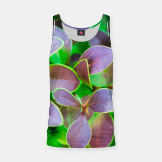 Vibrant green and purple leaves Tank Top thumbnail image