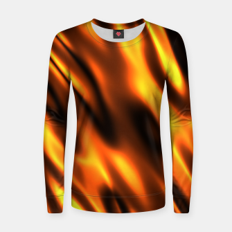 Thumbnail image of Fire Flame Blaze Hot Woman cotton sweater, Live Heroes