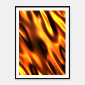 Thumbnail image of Fire Flame Blaze Hot Framed poster, Live Heroes