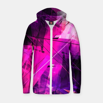 Thumbnail image of Rebellious Reflections - Geometric Abstract Art Zip up hoodie, Live Heroes