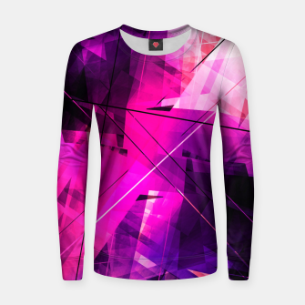 Thumbnail image of Rebellious Reflections - Geometric Abstract Art Women sweater, Live Heroes