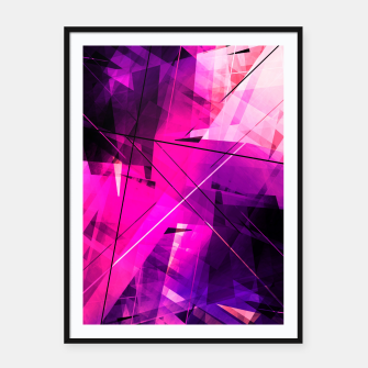 Thumbnail image of Rebellious Reflections - Geometric Abstract Art Framed poster, Live Heroes