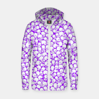 Thumbnail image of Gothic Crowd ULTRA VIOLET Cotton zip up hoodie, Live Heroes