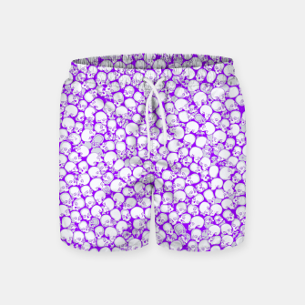 Thumbnail image of Gothic Crowd ULTRA VIOLET Swim Shorts, Live Heroes