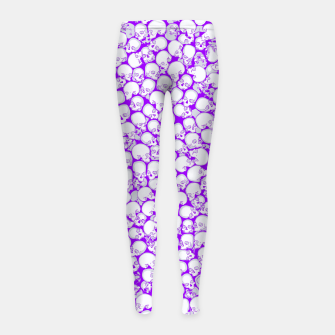 Thumbnail image of Gothic Crowd ULTRA VIOLET Girl's leggings, Live Heroes