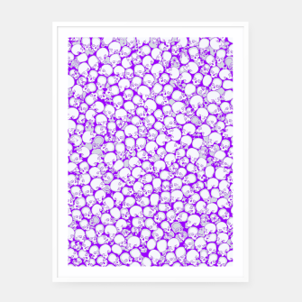 Thumbnail image of Gothic Crowd ULTRA VIOLET Framed poster, Live Heroes
