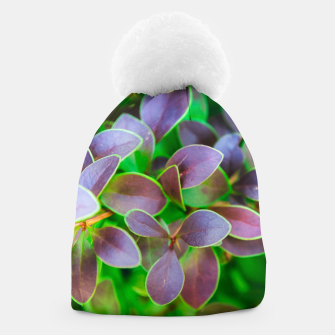 Thumbnail image of Vibrant green and purple leaves Beanie, Live Heroes