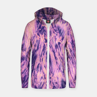 Thumbnail image of STREAM / ultra violet Cotton zip up hoodie, Live Heroes