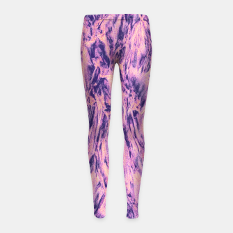 Thumbnail image of STREAM / ultra violet Girl's leggings, Live Heroes