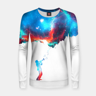 Miniatur Sounds of Galaxy Woman cotton sweater, Live Heroes