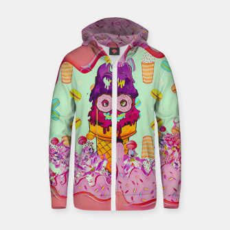 Thumbnail image of Ice Cream Cotton zip up hoodie, Live Heroes