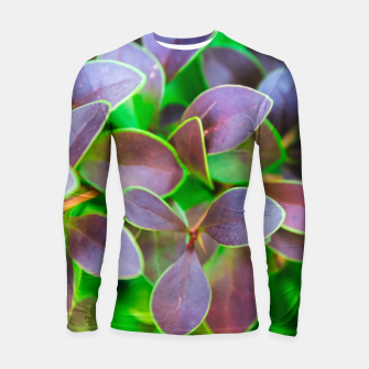 Vibrant green and purple leaves Longsleeve rashguard  thumbnail image