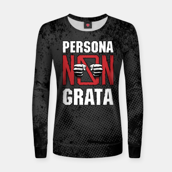 Thumbnail image of Persona Non Grata Woman cotton sweater, Live Heroes