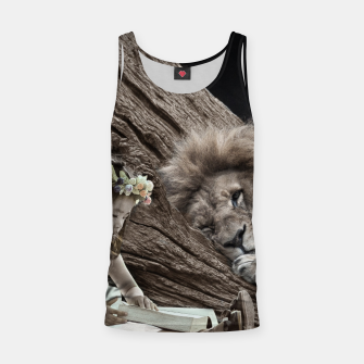Thumbnail image of Girl and The Lion - Fantasy Fairy Tales Tank Top, Live Heroes