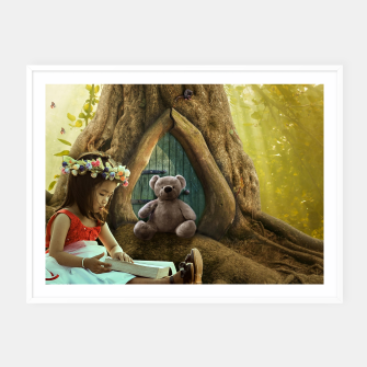 Thumbnail image of The Teddy Bear - Fantasy Fairy Tales Framed poster, Live Heroes