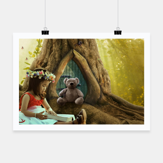 Thumbnail image of The Teddy Bear - Fantasy Fairy Tales Poster, Live Heroes