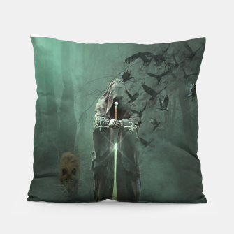 Thumbnail image of Creatures of the Relm  - Fantasy Fairy Tales Pillow, Live Heroes