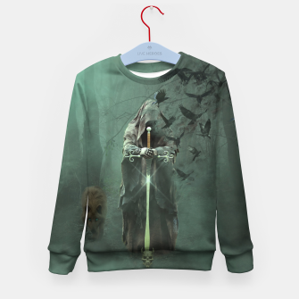 Thumbnail image of Creatures of the Relm  - Fantasy Fairy Tales Kid's sweater, Live Heroes