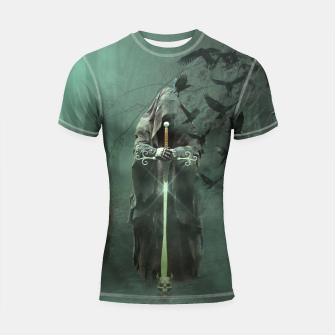 Thumbnail image of Creatures of the Relm  - Fantasy Fairy Tales Shortsleeve rashguard, Live Heroes