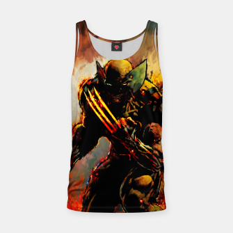 Thumbnail image of wolverine Tank Top, Live Heroes