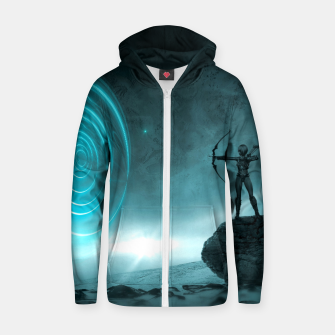 The Archer - Fantasy Fairy Tales Cotton zip up hoodie thumbnail image