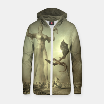 The Mother of Dragons - Fantasy Fairy Tales Cotton zip up hoodie thumbnail image