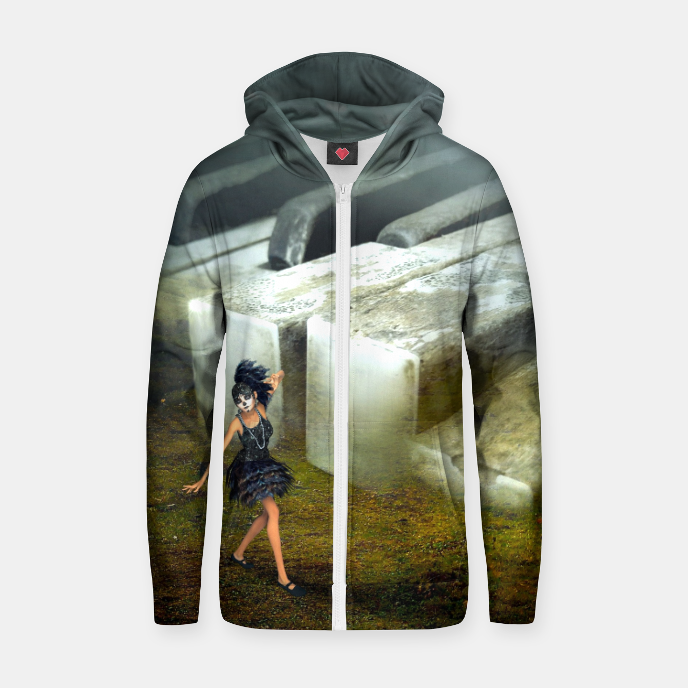 Image of The Piano - Fantasy Fairy Tales Cotton zip up hoodie - Live Heroes
