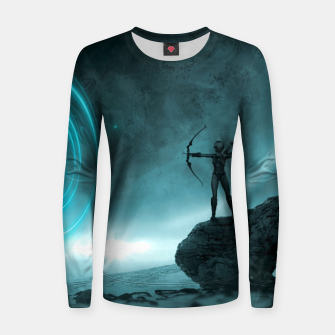 The Archer - Fantasy Fairy Tales Woman cotton sweater thumbnail image